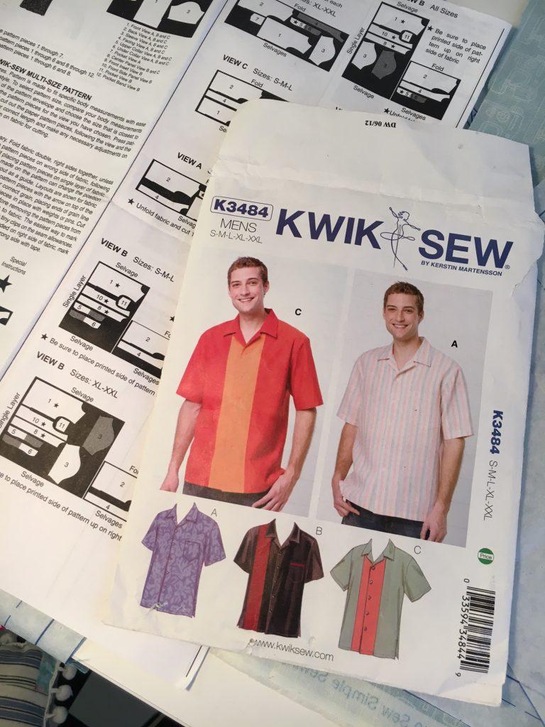 Kwik Sew K3484 mens pattern