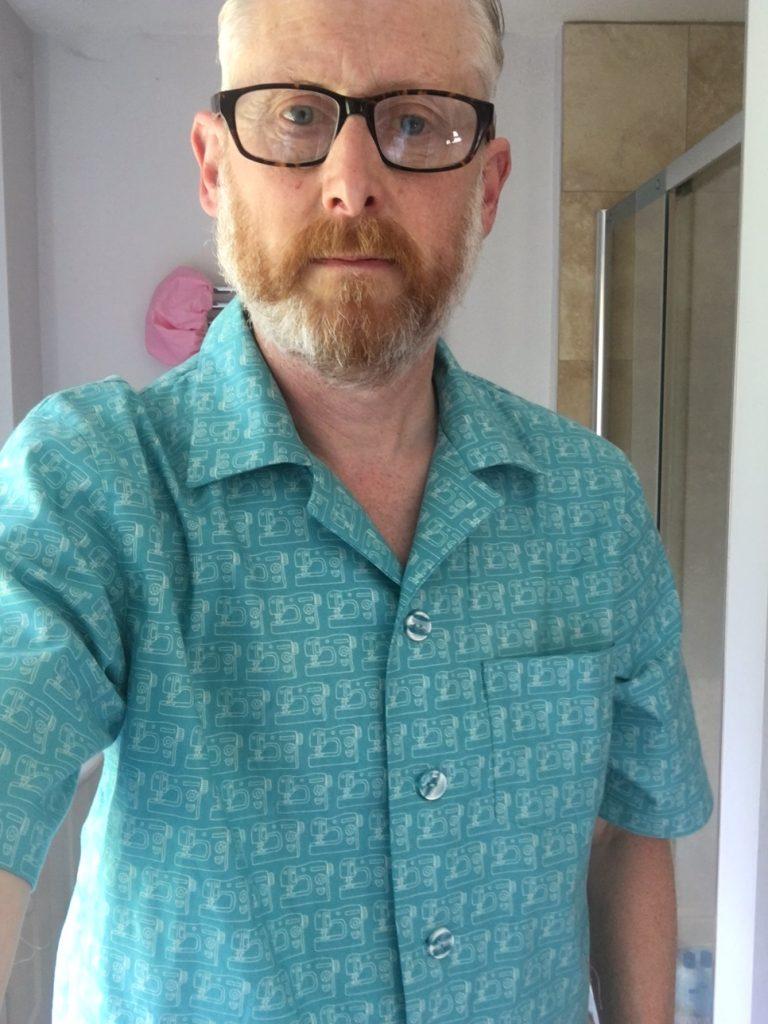 Finished Kwik sew pattern shirt